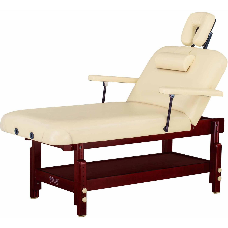 "Master Massage 31"" Spamaster Stationary Salon Massage Table Package, Sand"