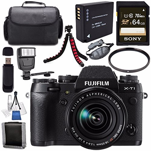 Fujifilm X-T1 Mirrorless Digital Camera with 18-55mm Lens...