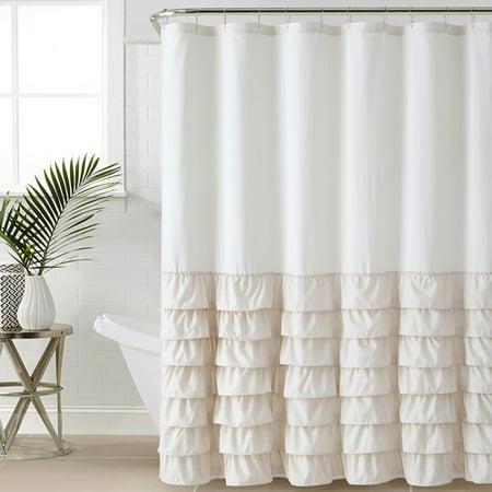 VCNY Home Melanie Ruffle 72x72 Shower Curtain