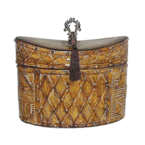 Sterling Industries 72-4242 Harlequin Tassel Decorative Box