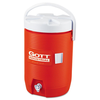 Insulated Beverage Container, 3 Gal, Polyethylene, Orange/White, Sold as 1 Each