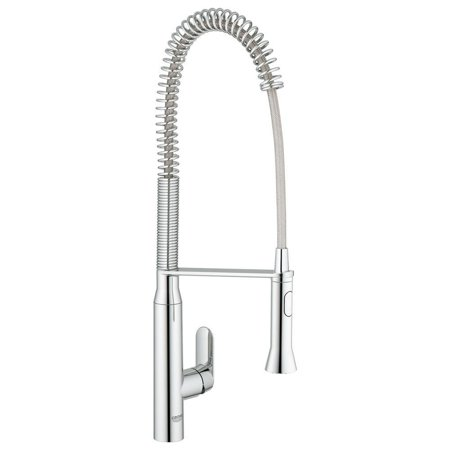 Grohe K7 Semi-Pro Single-Handle Pull-Out Sprayer Kitchen Faucet in  StarLight Chrome