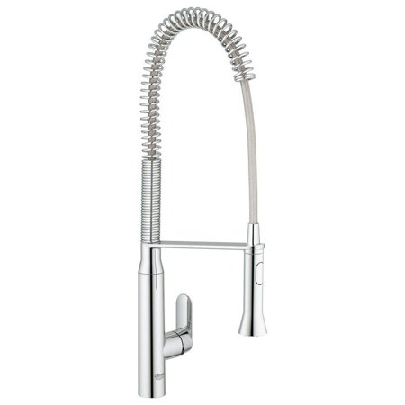 Grohe  K7 Semi-Pro Single-Handle Pull-Out Sprayer Kitchen Faucet in StarLight (Best Grohe Kitchen Faucets)