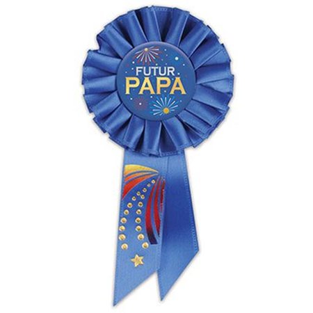 Beistle SRS180F 3.25 x 6.5 in. Futur Papa-Dad to Be Rosette - Pack of 6 - image 1 of 1