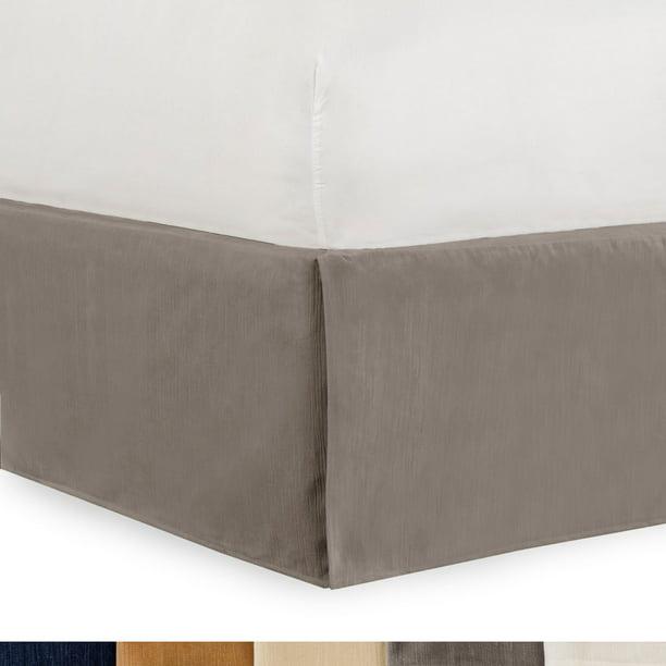 Gavotte Home Tailored Velvet Bed Skirt with Split Corner 18 inch