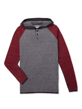 Tony Hawk Boys Raw Edge Thermal Henley Hoodie Sizes 4-16