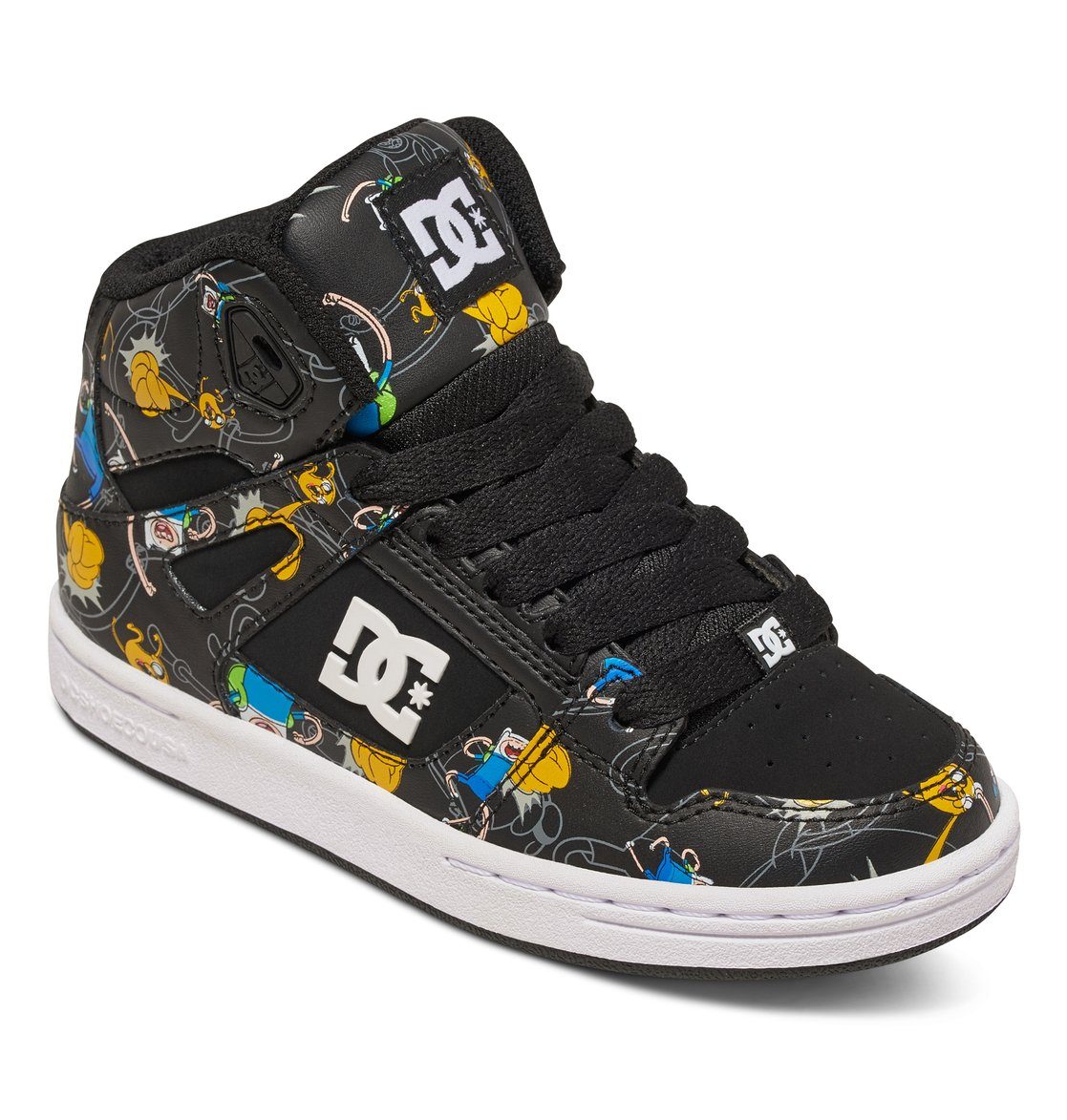 DC DC Kid's Rebound X AT Skate Sneakers Multi Leather 3.5 Big Kid M