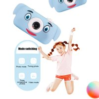 Child Camera Photo Video Cameras, Kids Toys Camera Gifts for 3-8-Year-Old Girls, Digital Camera with Soft Silicone Shell, for Kid's Halloween Christmas Birthday Gift, Blue Dog, 32GB TF Card, S7565