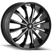 "Mazzi 341 Fusion 20x8.5 5x108/5x4.5"" +35mm Black/Machined Wheel Rim 20"" Inch"