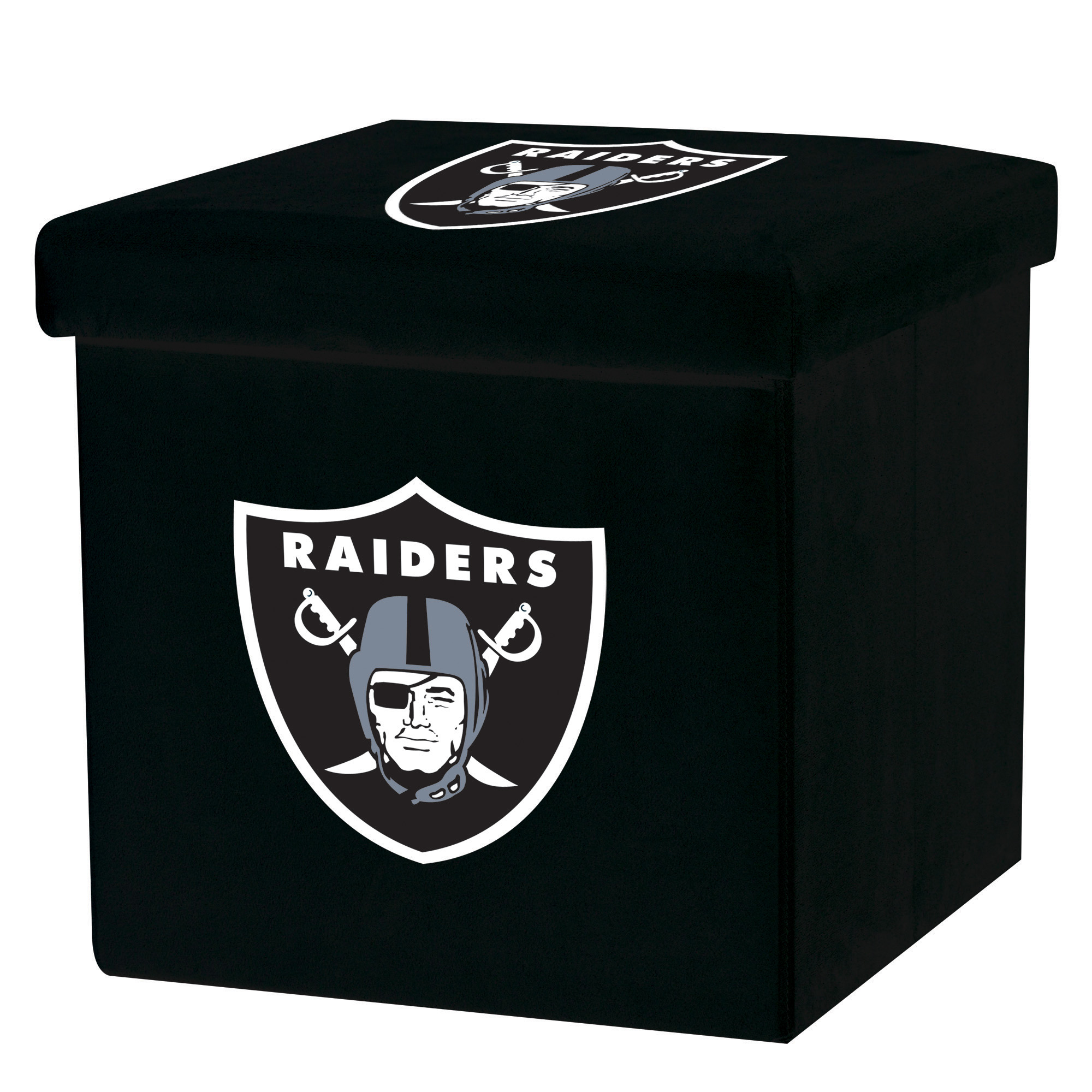 Franklin Sports NFL Oakland Raiders Storage Ottoman with Detachable Lid