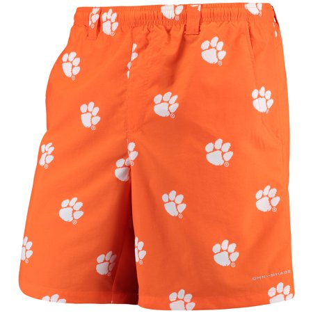 "Clemson Tigers Columbia PFG Backcast II 8"" Omni-Shade Hybrid Shorts - Orange"