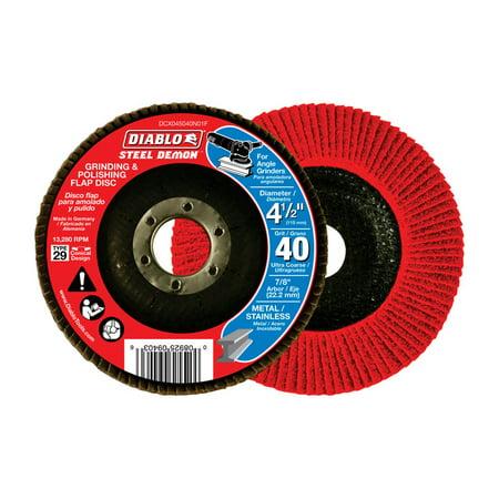 Diablo Steel Demon 4-1/2 in. Dia. x 7/8 in. Ceramic Flap Disc 40 Grit 13280 rpm 1 pc.