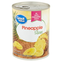 Great Value Pineapple Slices in 100% Juice, 20 oz can