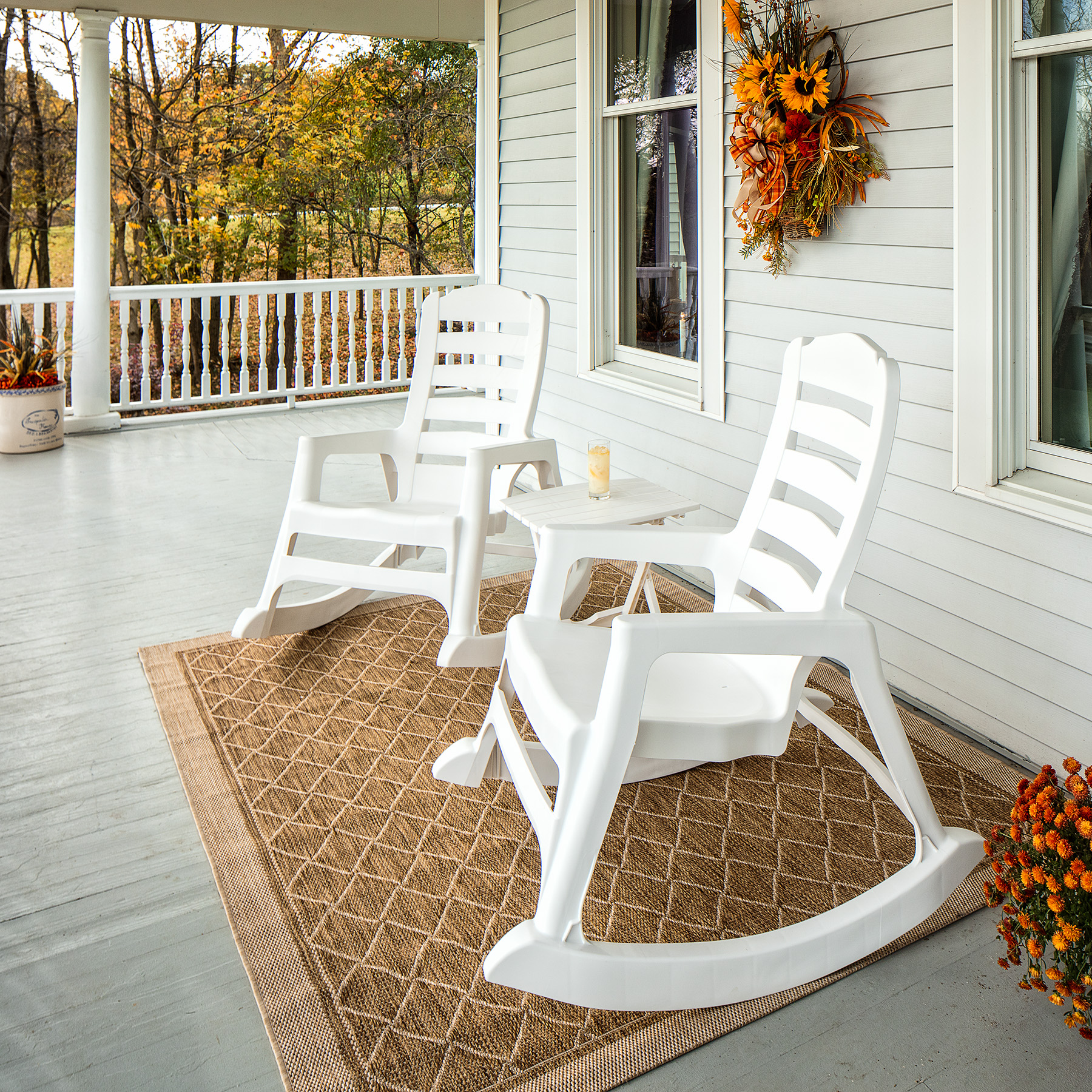Stupendous Adams Manufacturing Big Easy Rocking Chair White Caraccident5 Cool Chair Designs And Ideas Caraccident5Info