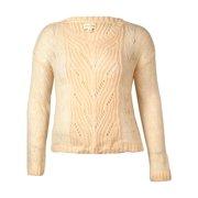 Maison Jules Women's Open Knit V-Neck Sweater (L, Pearl Blush)