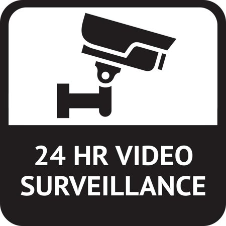 Magnetic Vinyl Car Sign - 5in x 5in 24 HR Video Surveillance Magnet Vinyl Magnetic Security Signs