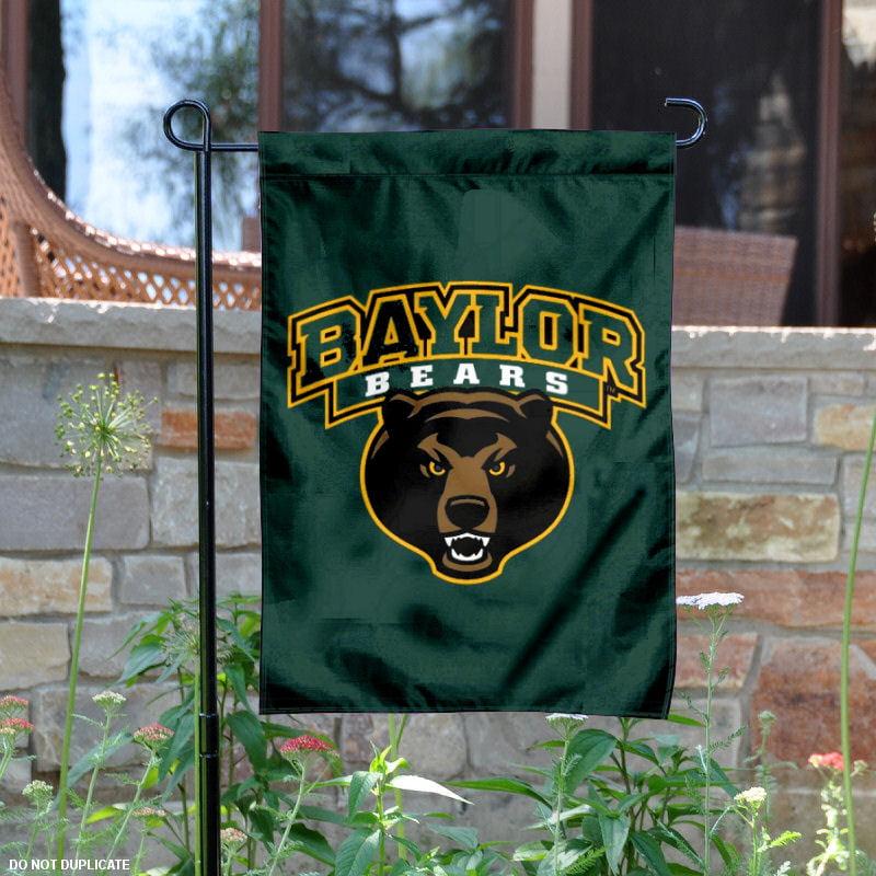 "Baylor Bears Bear Logo 13"" x 18"" College Garden Flag"