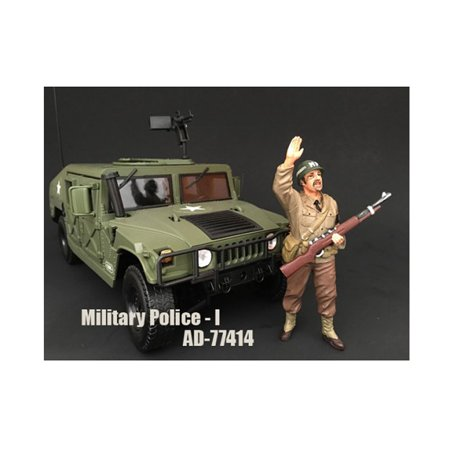 WWII Military Police Figure I For 1:18 Scale Models by American (Military Modelling)