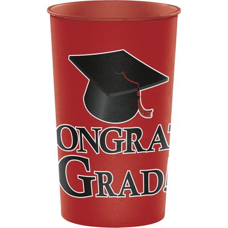 Graduation Cups (Red Graduation Keepsake Cups)