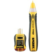 Sperry Instruments STK001 Non-Contact Voltage Tester (VD6504) & GFCI Outlet / Receptacle Tester (GFI6302) Kit, Electrical AC Voltage Detector, Yellow & Black