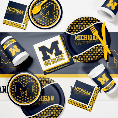 University of Michigan Game Day Party Supplies Kit - University Of Alabama Party Supplies