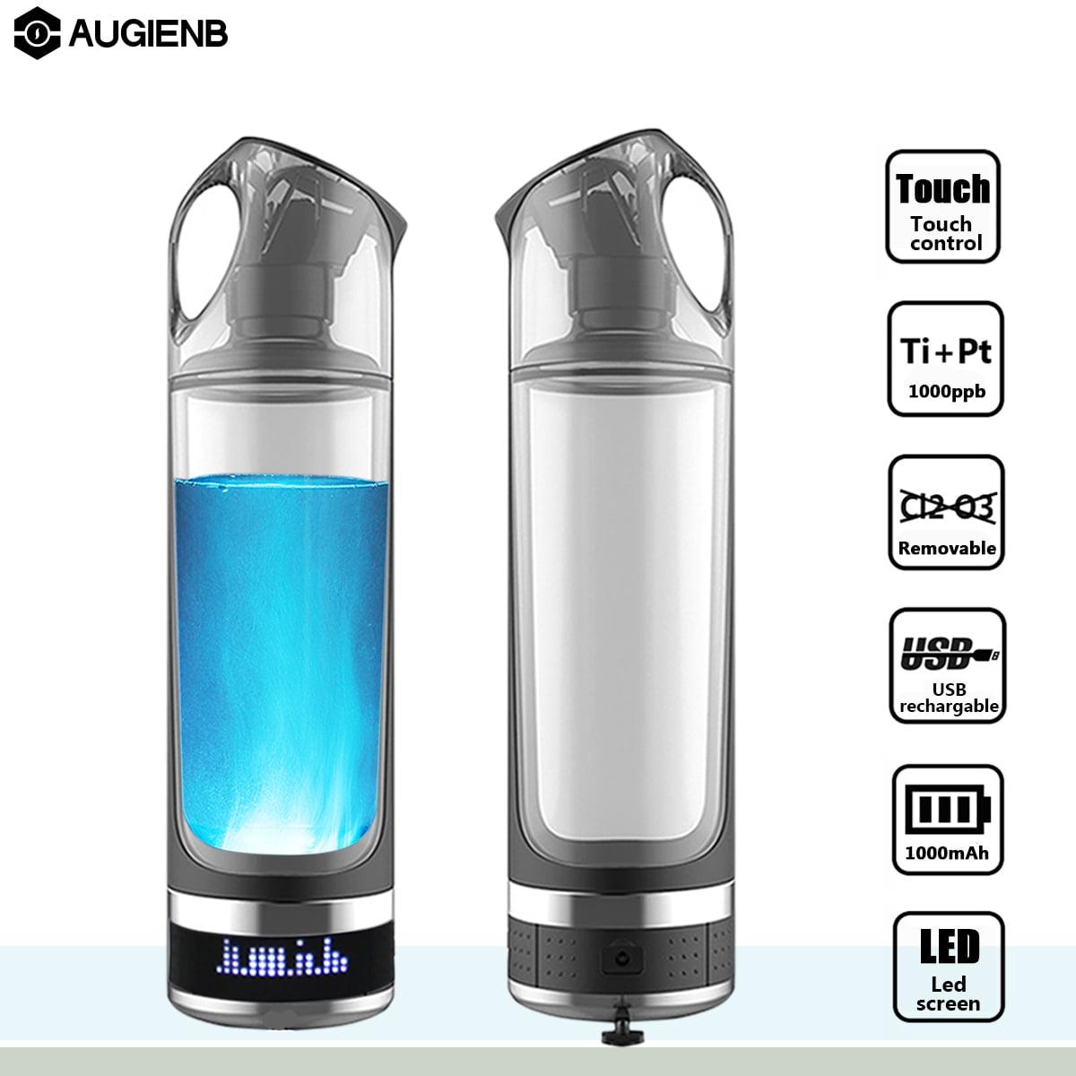 AUGIENB 500ml Hydrogen Rich Alkaline Water Cup Ionizer Maker Generator Energy Bottle,Leak-proof Purifier Filter... by