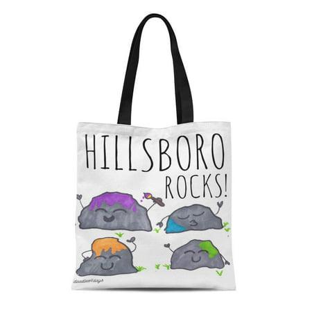 SIDONKU Canvas Tote Bag Paint Rock Hide Hiding Cute Sharpie Fun Reusable Handbag Shoulder Grocery Shopping Bags