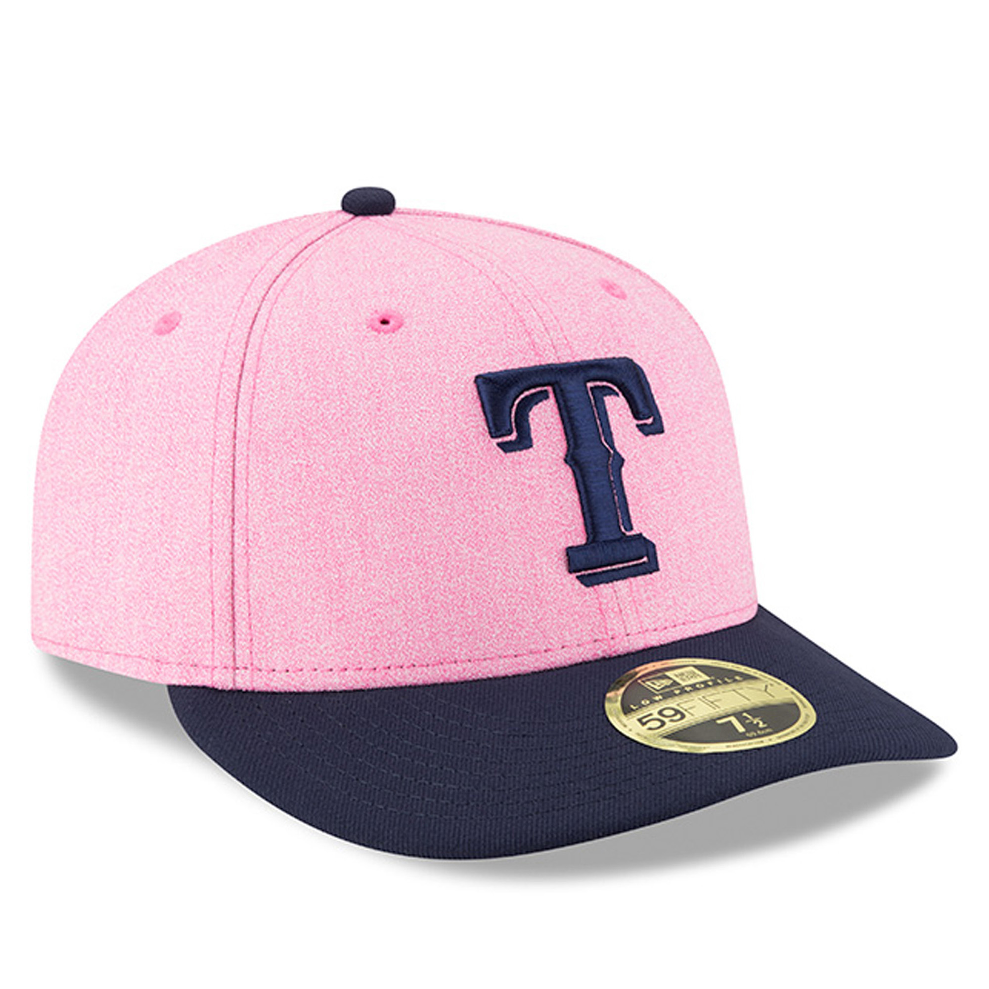 best service 6f2f8 e8d33 Texas Rangers New Era 2018 Mother s Day On-Field Low Profile 59FIFTY Fitted  Hat - Pink Navy - Walmart.com