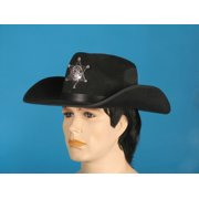 Loftus Adult Wild West Sheriff Curved Sides Cowboy Hat, Black, One Size