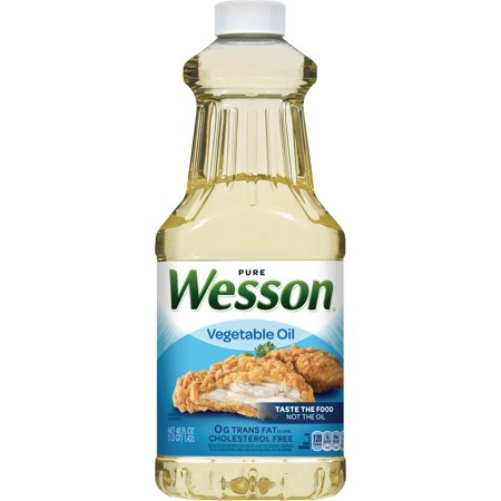 Wesson Pure 100% Natural Vegetable Oil, 48 Fl Oz - Walmart.com