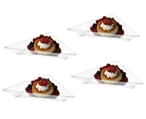 Mini Clear Plastic Triangle Dessert Appetizer Plates. Pack Includes 96 Tasting S&ling Hors Du0027  sc 1 st  Walmart & Mini Clear Plastic Triangle Dessert Appetizer Plates. Pack Includes ...
