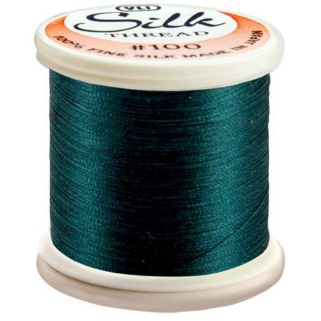 Silk Thread 100wt 200m - Dark Blue Green