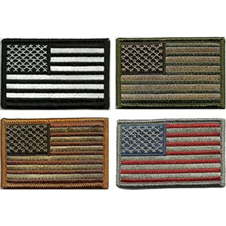 Prohouse Bundle - Tactical USA Flag Patches - Multi-colored by TMTC Tactical  Gear Four American Flag Patches 18f04452385e