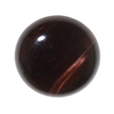 Red Tiger Eye Gemstone Round Flat-Back Cabochons 25mm (1 Piece)