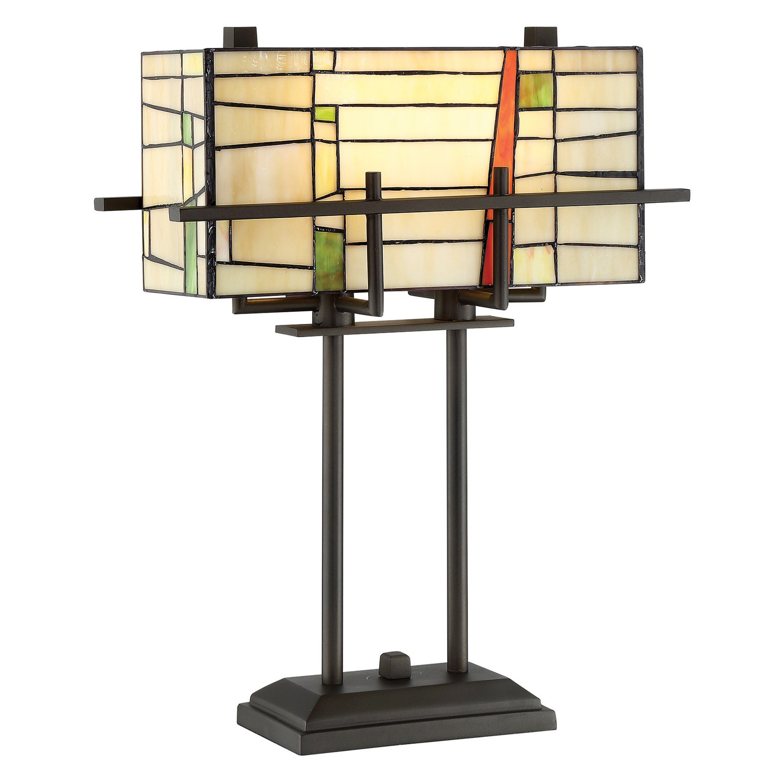 Lite Source Mansur Table Lamp with Tiffany Shade