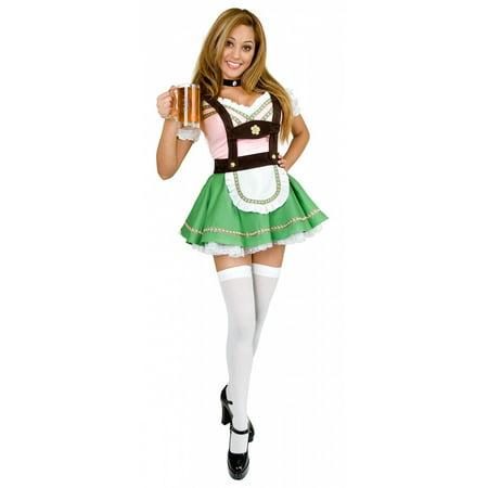 Bavarian Beer Garden Girl Adult Costume - X-Small - Beer Garden Girl