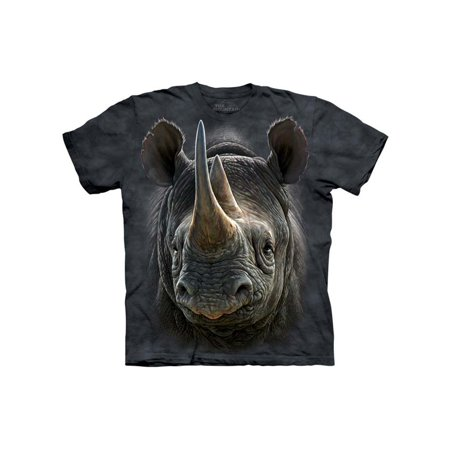 Rhino Soft Top - Black 100% Cotton Black Rhino Realistic Graphic T-Shirt NEW