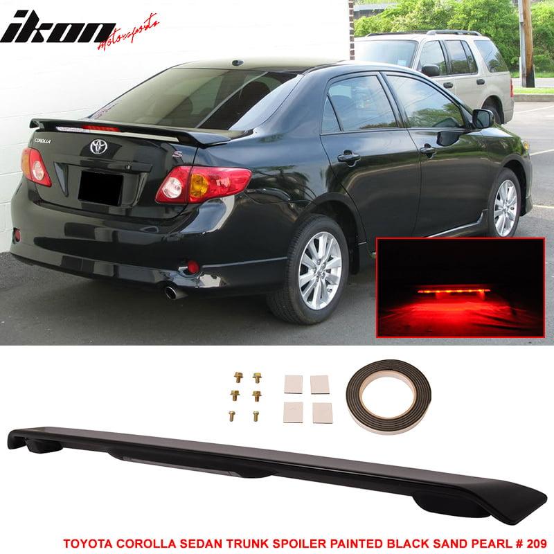 Fits 09-13 Toyota Corolla 4Dr ABS Trunk Spoiler & 3RD LED Brake Light