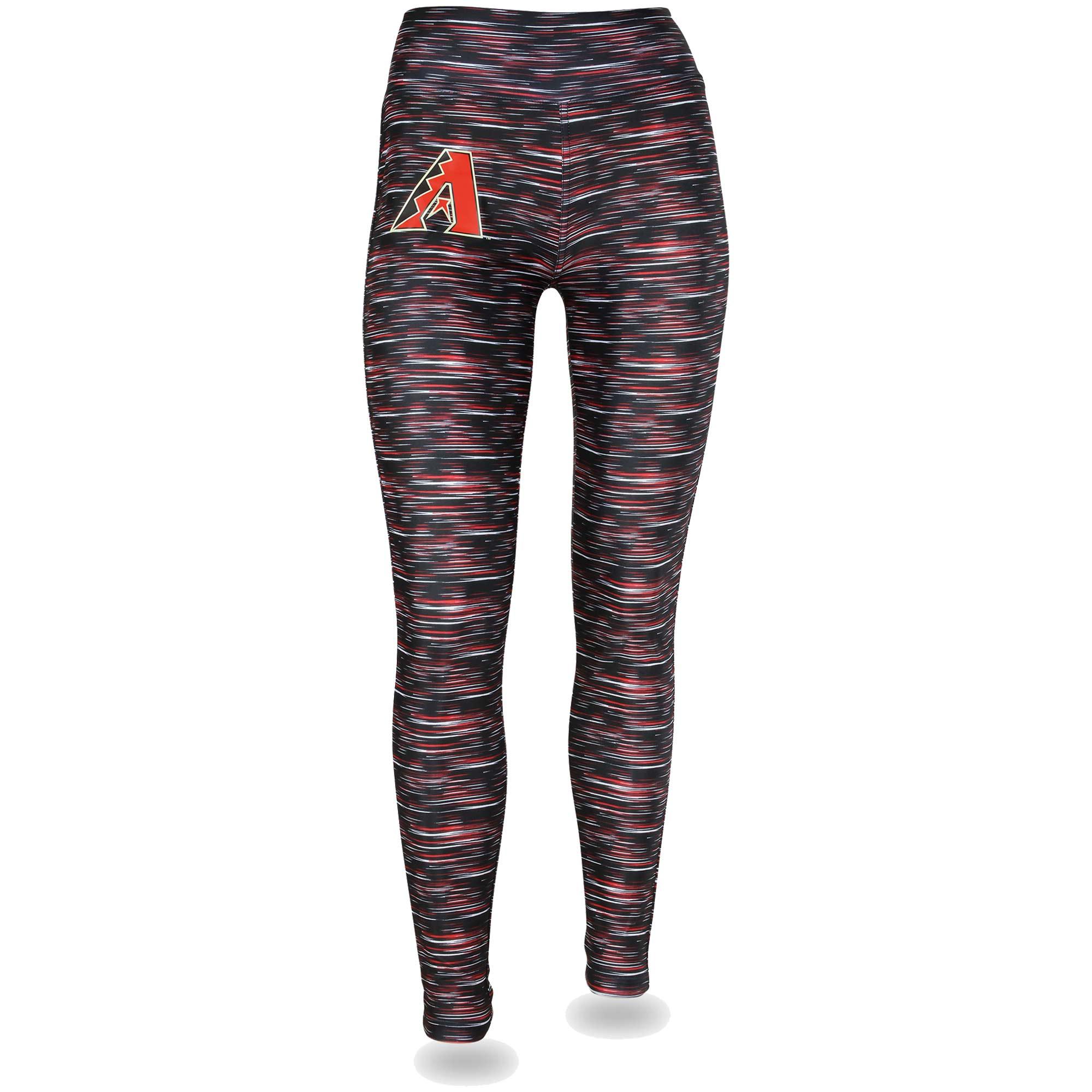Women's Black/Red Arizona Diamondbacks Space Dye Leggings