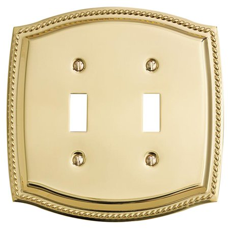 Baldwin 4790.030.CD 5.9375-Inch x 5.9375-Inch Rope Double Toggle, Polished Brass