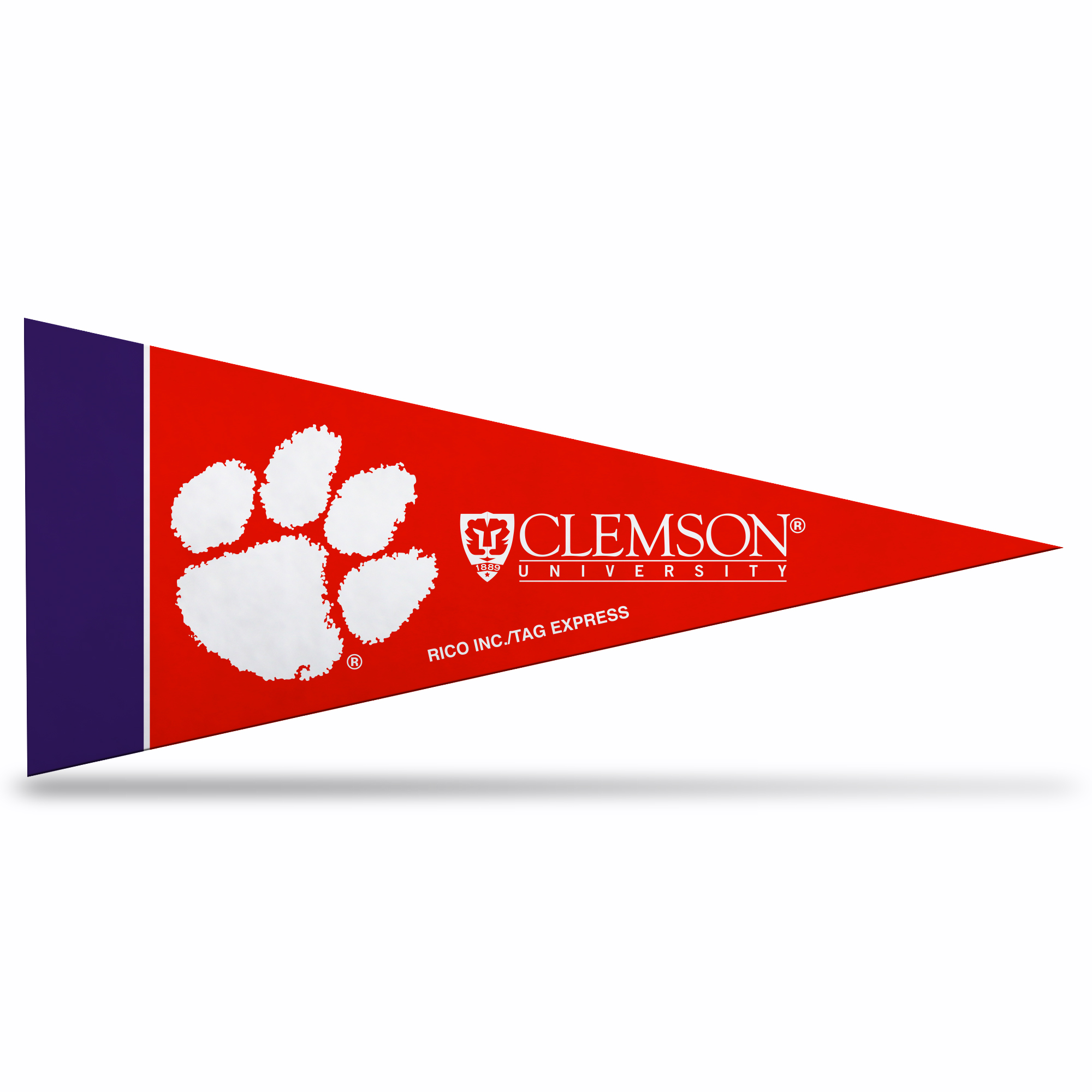 Clemson Tigers Official NCAA 10 inch x 4 inch  8 Piece Mini Pennant Set by Rico
