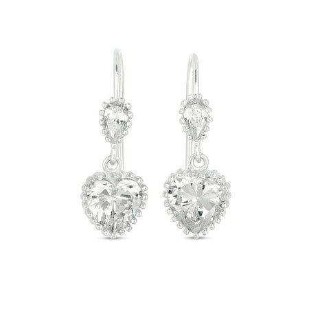 - CZ Sterling Silver Drop Earrings