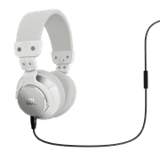 JBL BassLine Over-Ear DJ Style Headphones with In-line Mic & Controls - White