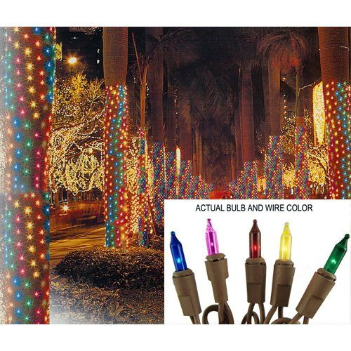 Northlight Christmas Central SIENNA 29AN4 2-ft x 8-ft Mini Christmas Net Style Tree Trunk Wrap Lights