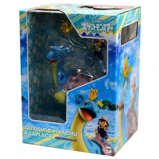 Megahouse Pokemon Ash Ketchum /& Pikachu /& Lapras GEM PVC Figure 4535123824333