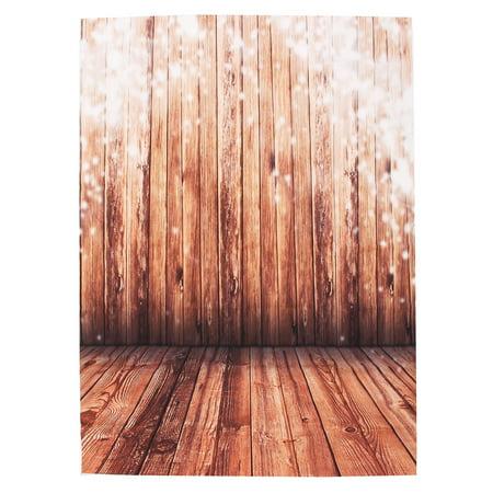 5X7FT Retro Wood Floor Wall Photography Backdrop Silk Cloth Photo Lighting Studio Props Background Christmas Party - Photo Backdrops Christmas