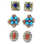 Sweet Romance  Set of 3 Southwest Gypsy Stud Earrings