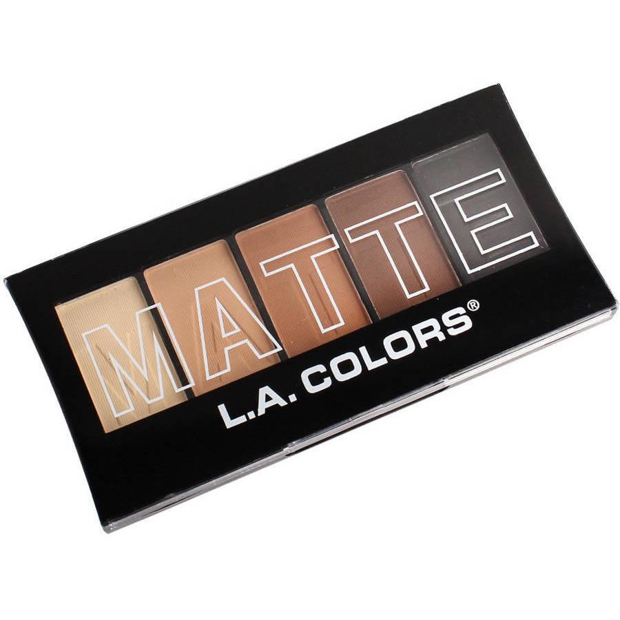 L.A. Colors Matte Eyeshadow Palette, Brown Tweed