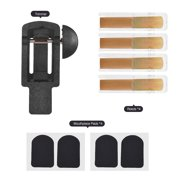 Clarinet Reeds Trimmer Set with Reeds 2.5 Strength and Mouthpiece Cushion Pads Musical Woodwind Instrument Accessories Tool for Clarinet Saxophone