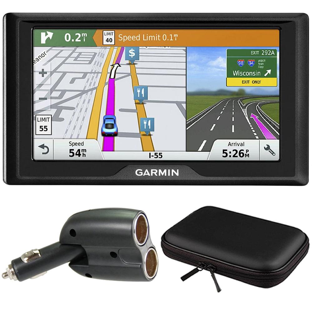 Garmin Drive 60 GPS Navigator (US Only) Charger Bundle includes Garmin Drive 60LMT, UGC-102-BL Dual 12V Car GPS Charger and PocketPro XL Hardshell Case